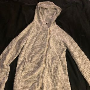 Glittered inc zip up hooded sweater